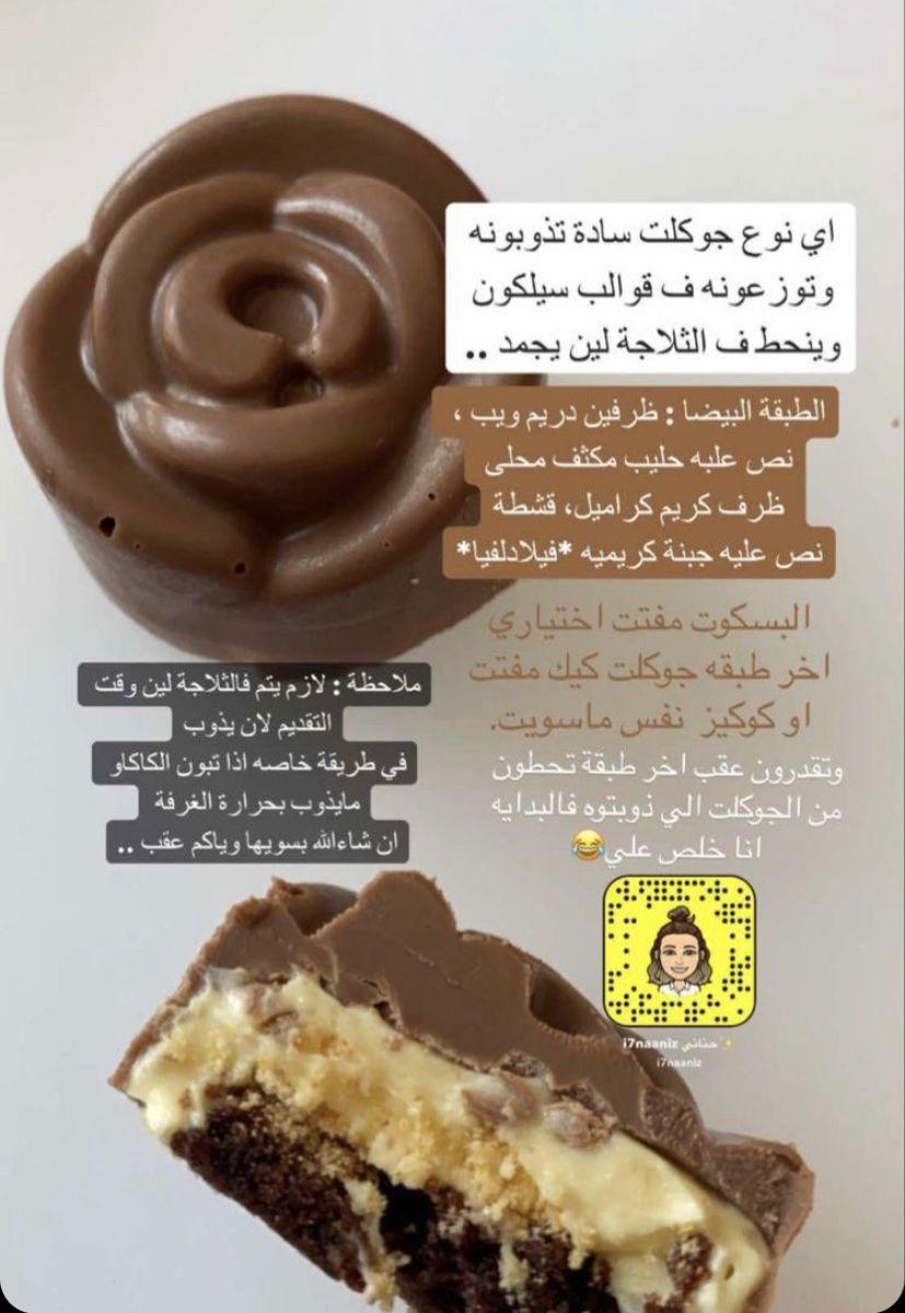 شوكولاته قوالب In 2021 Sweets Recipes Chocolate Bonbons Recipe Food Receipes