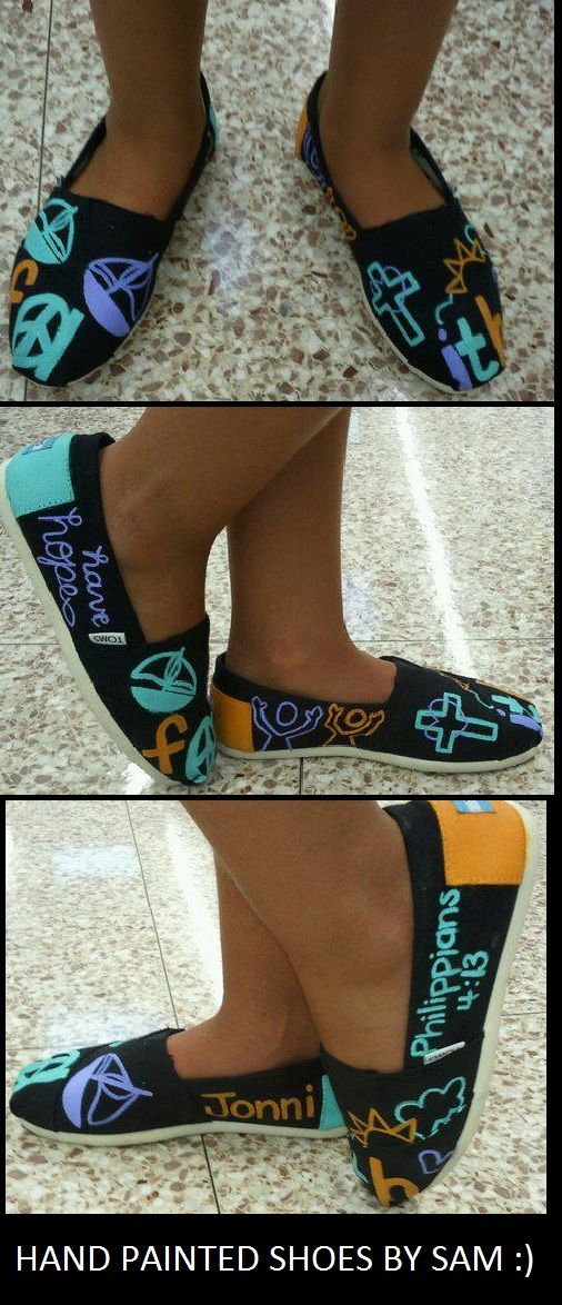 hand painted TOMS shoes :)