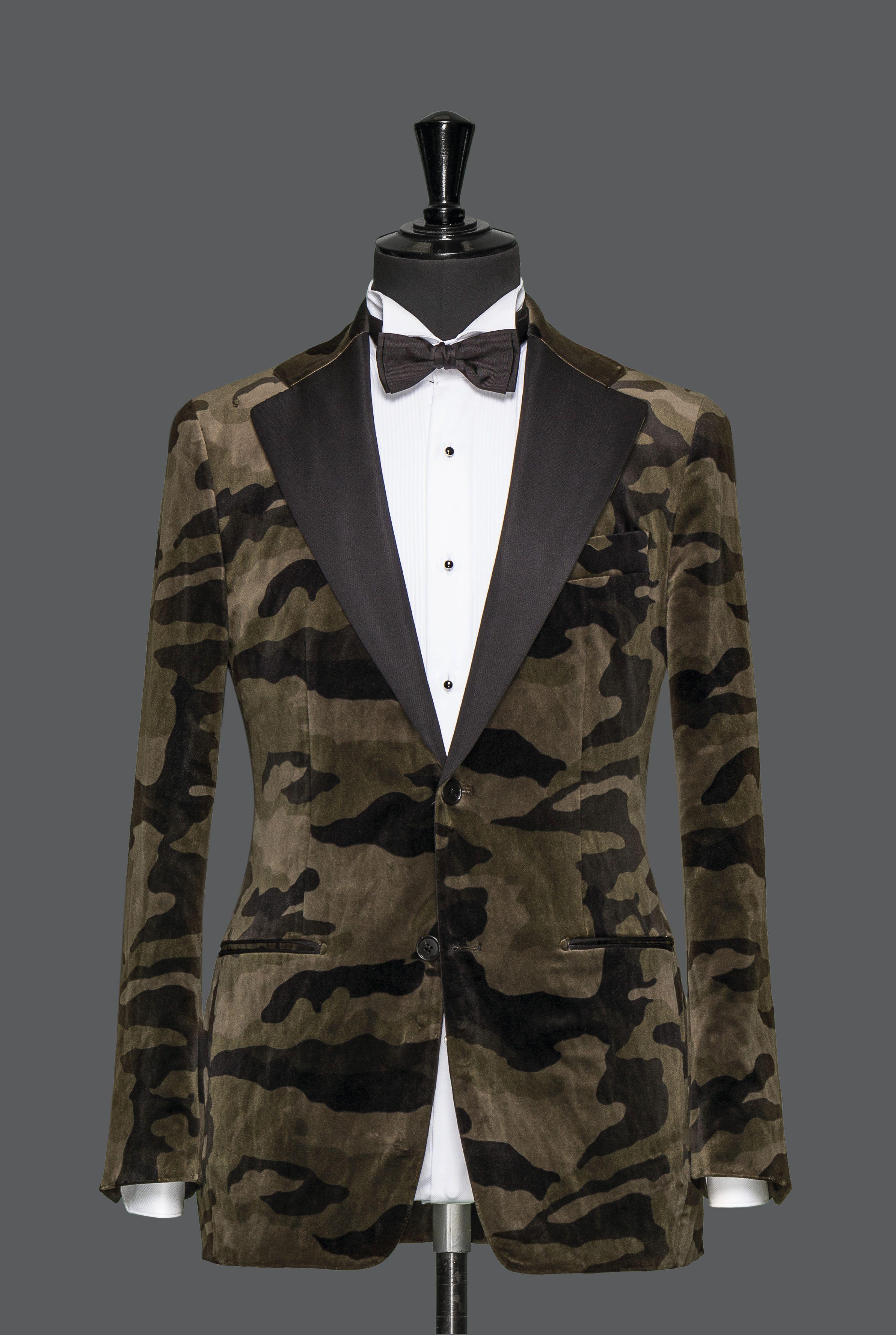 978e332970f00 Tailor Made, Velvet Camo Suit   17C   Camo suit, Suits, Camo tuxedo