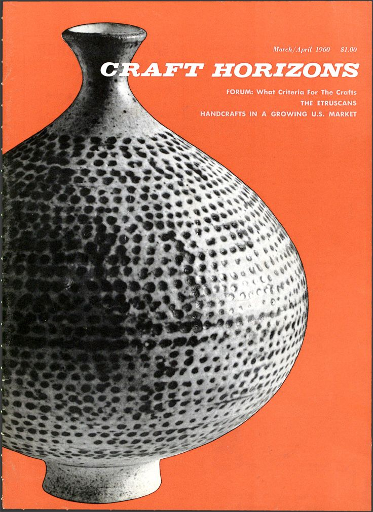 Craft Horizons Magazine March April 1960 Volume 20 Number 2