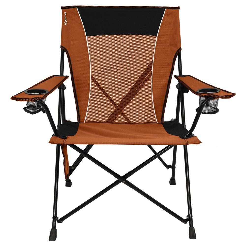 Kijaro victoria desert orange dual lock chair 80071