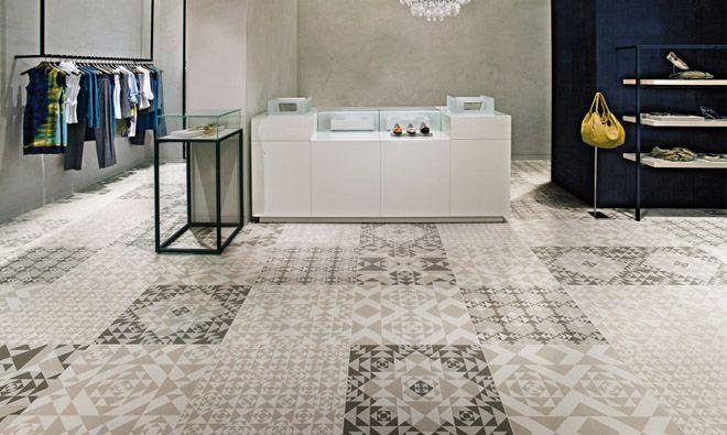 Carrelage Contemporain Frame Carpet Random aspect carreau ciment