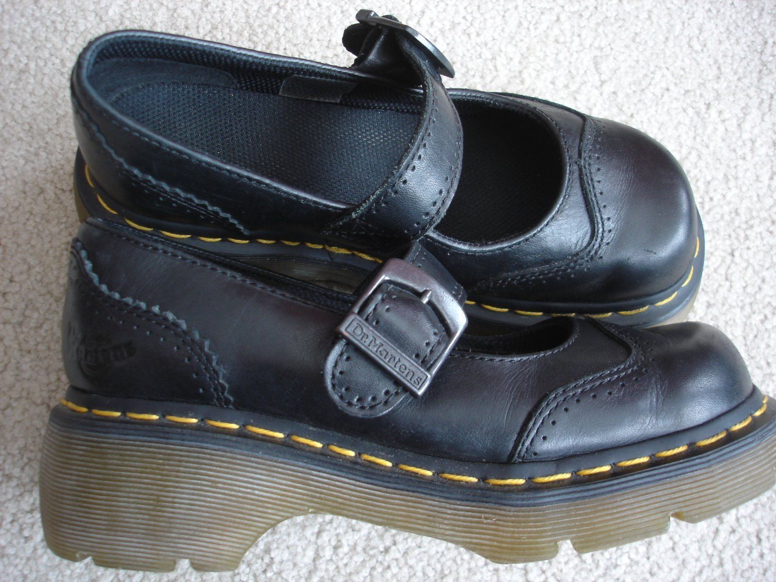 Dr Martens 8065 Mary Jane Twin Bar Patent Leather Shoes *Size 2.5 UK* BNIB
