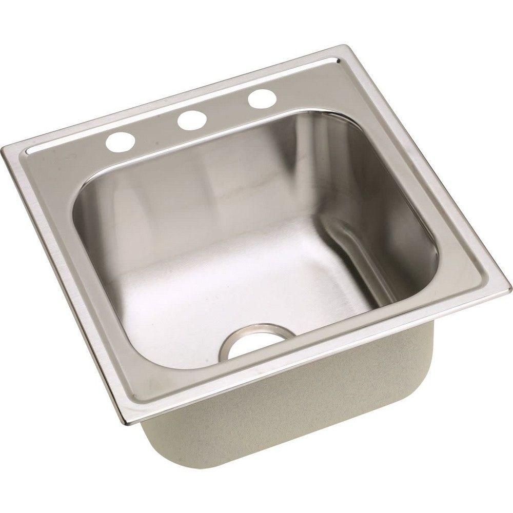 Elkay Dpc1202010 Dayton 20 Single Basin Drop In Stainless Steel