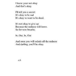 Its Okay To Be Sad Quotes Poems Quotes Poems Words