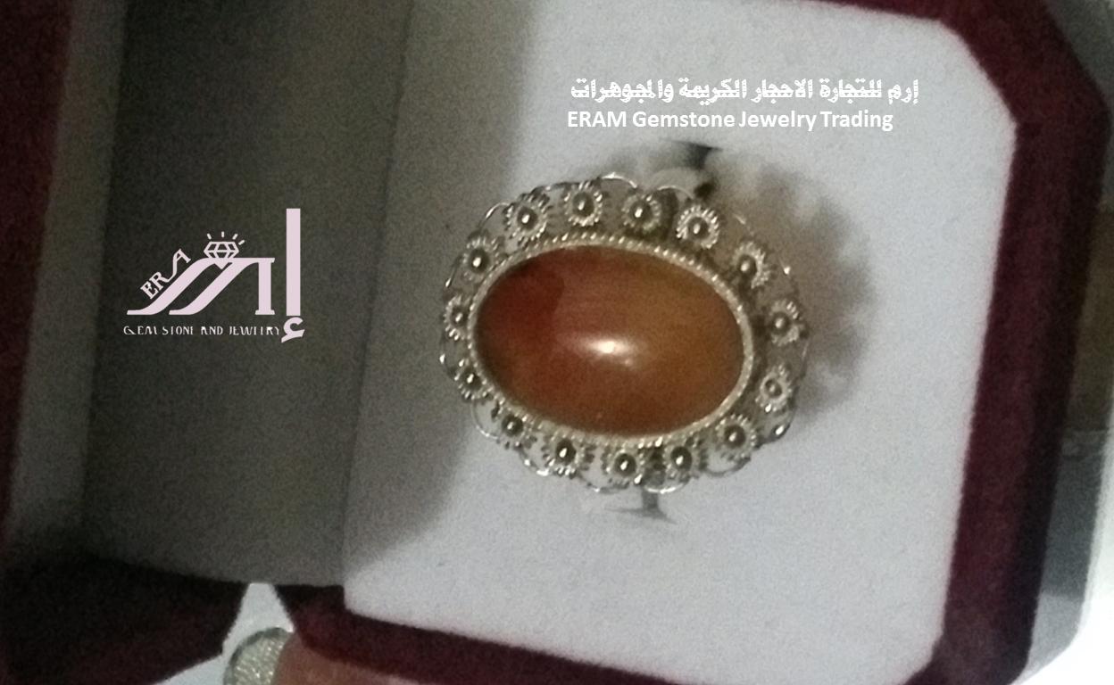 خواتم عقيق نسائي بني طبيعي الموديل الثالث100 Agate Gemstone Jewelry Gemstones Jewelry