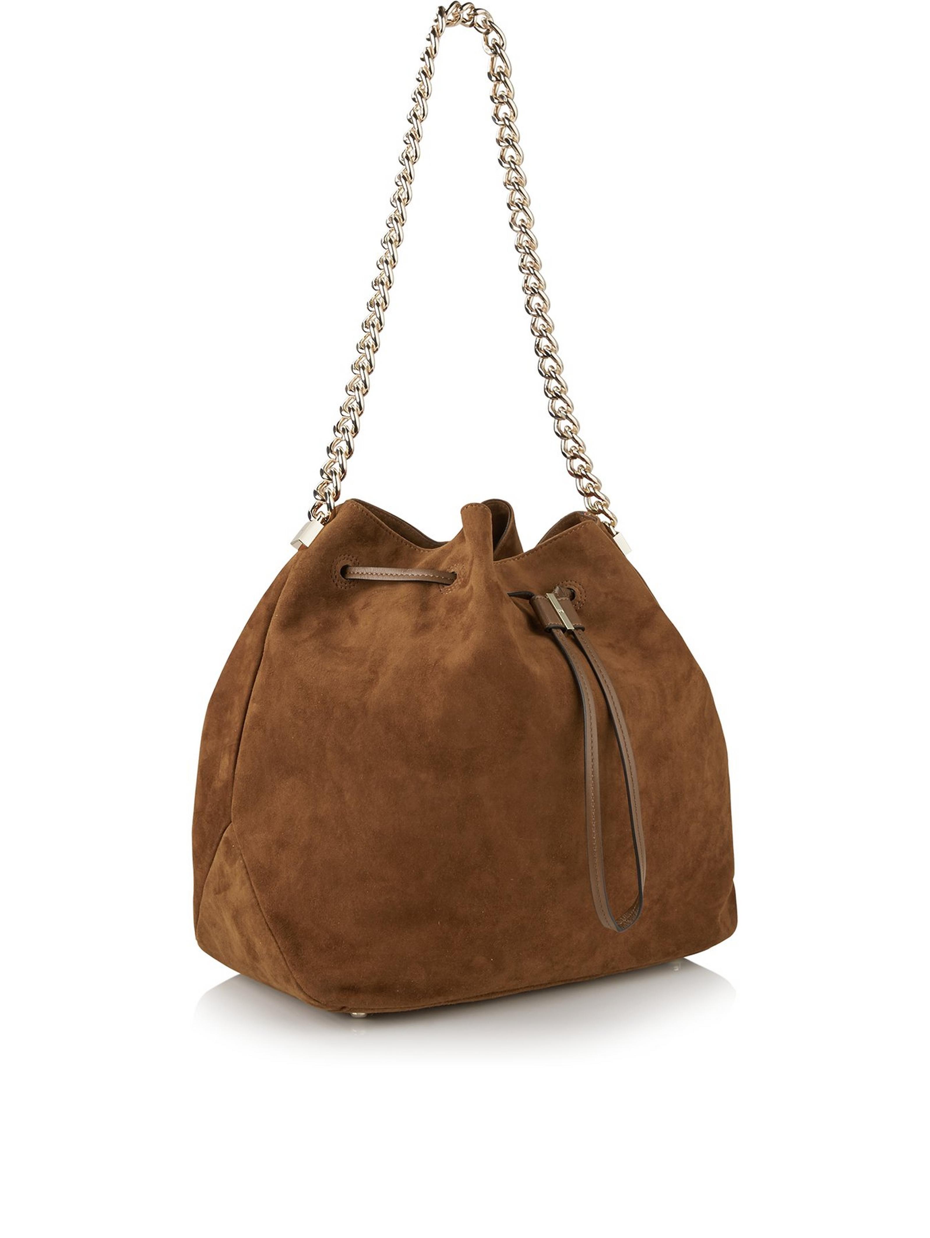 29f6ed9ec84 KAREN MILLEN Suede Drawstring Bucket Bag - TanSize & Fit Dimensions:  Height: 29 cm