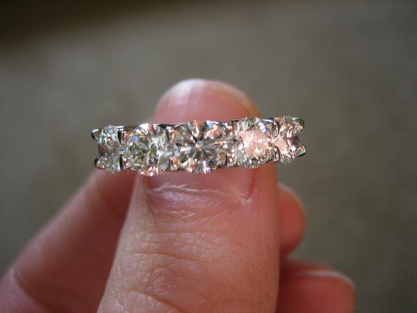 5 stone u prong ring
