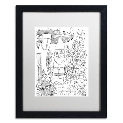 Trademark Art 'Fairies and Woodland Creatures' by KCDoodleArt Framed Graphic Art