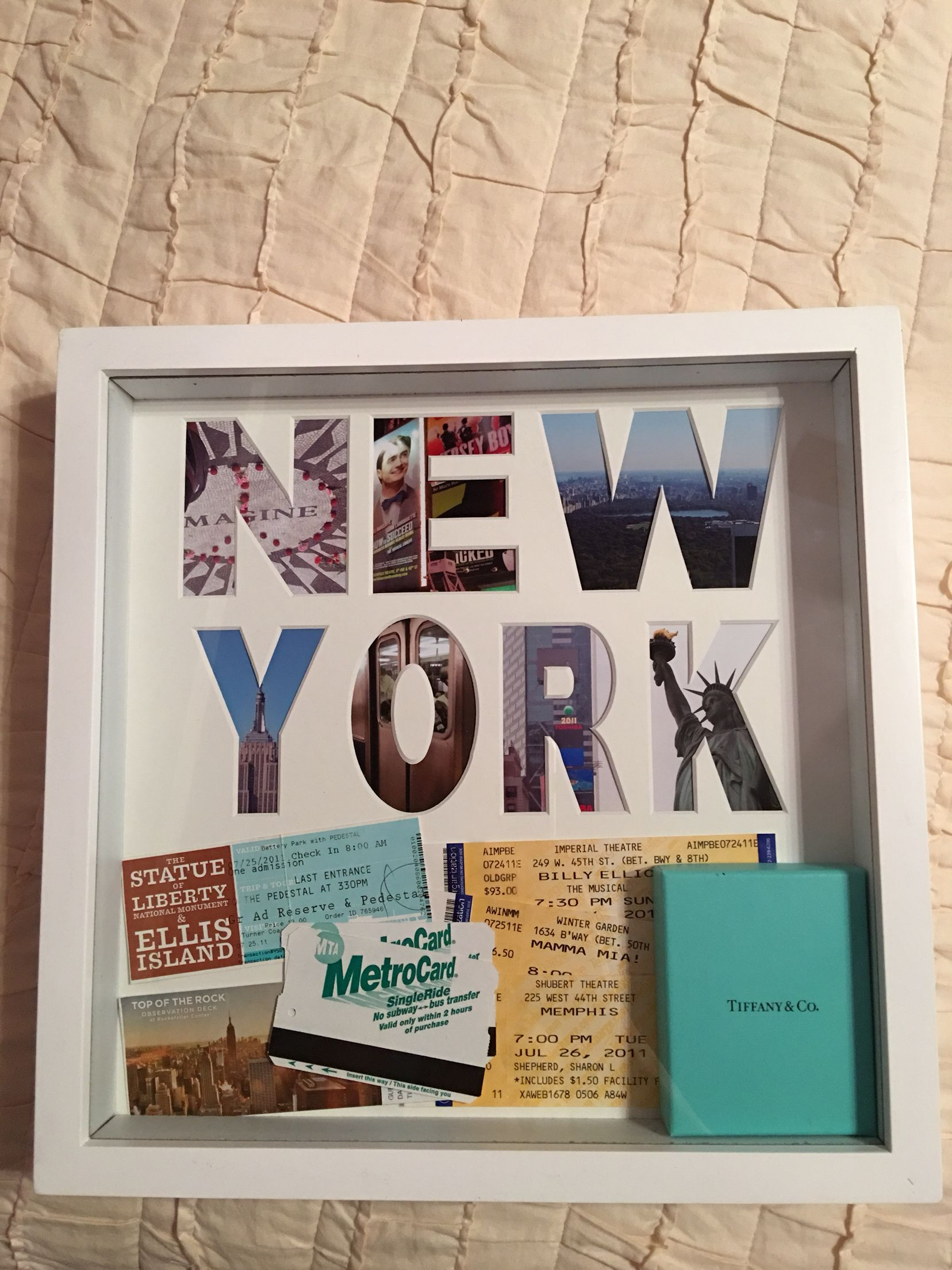 Travel Shadow Box New York City Travel Shadow Boxes Shadow Box Diy Gifts For Friends