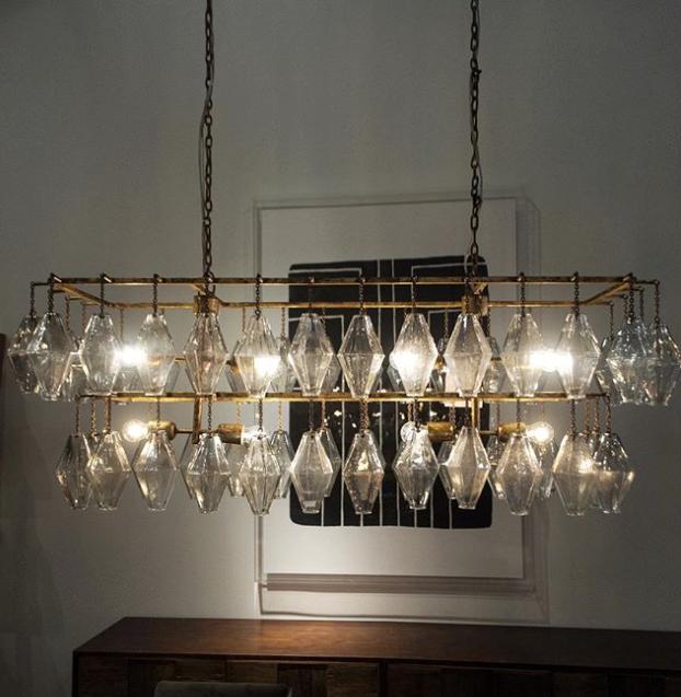 24 Rectangular Chandelier Designs Decorating Ideas: Adeline Rectangular Chandelier Gold Leaf