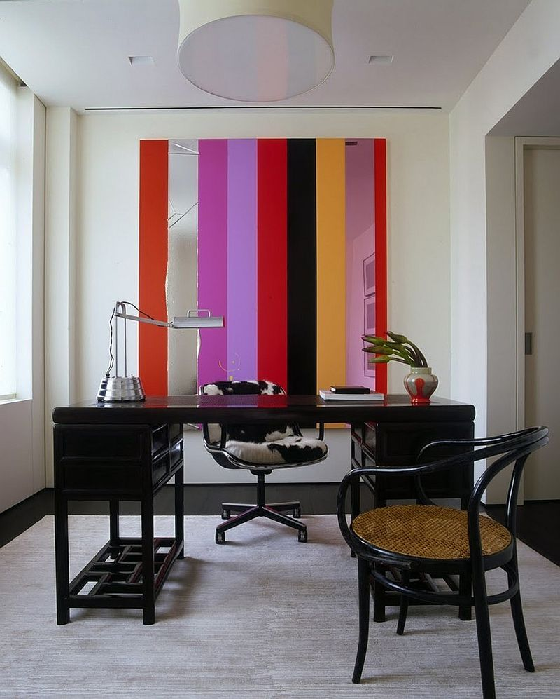 paint home design%0A Painting of Stylish Stripes Wall Design For Your Home Office