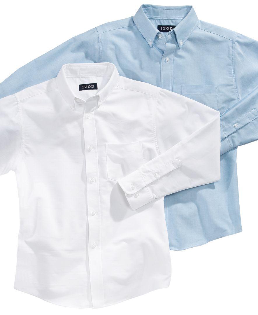 Izod Boys' Long Sleeved Oxford Shirt