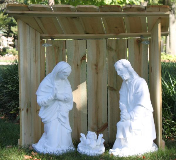 foldable nativity stable christmas nativity stable outdoor rh pinterest com