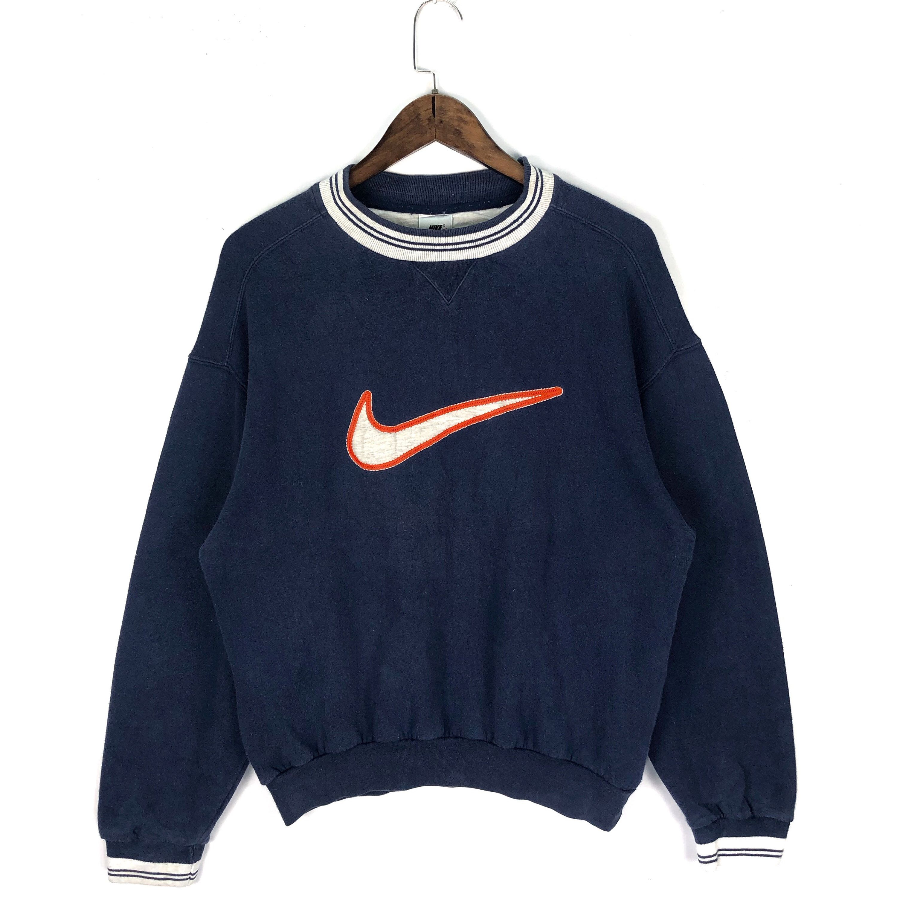 Excited To Share This Item From My Etsy Shop Vintage 90s Nike Swoosh Crewneck Sweatshirt Big Logo Embroidery M Vintage Outfits Sweatshirts Sweatshirt Website [ 3000 x 3000 Pixel ]