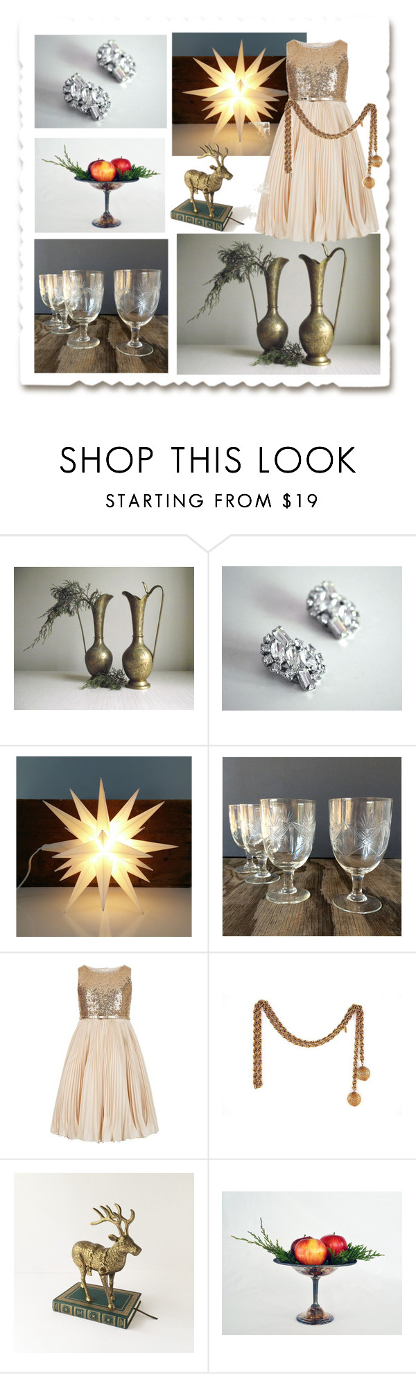 """Sparkle & Shine"" by gazaboovintage ❤ liked on Polyvore featuring interior, interiors, interior design, home, home decor, interior decorating, Monsoon, vintage and VintageAndMain"