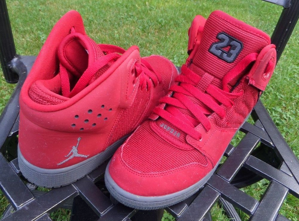f187e5b26ecc Jordan 1 Flight 4 Premium Red Dark Grey 828237-600 Basketball Shoes U.S 7Y  VGC  Jordan