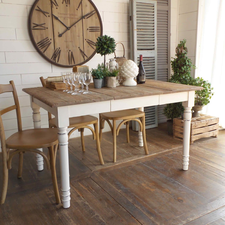 Acquista online il tavolo quadrato NEW VINTAGE WHITE di