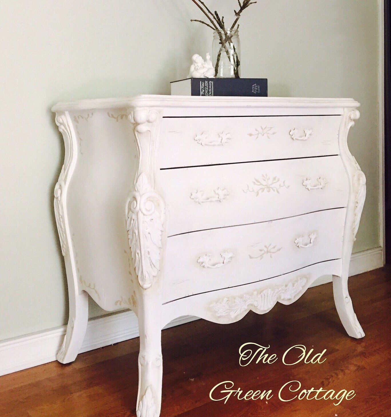 pure white chalk painted french style bombe chest dresser aged in rh pinterest com
