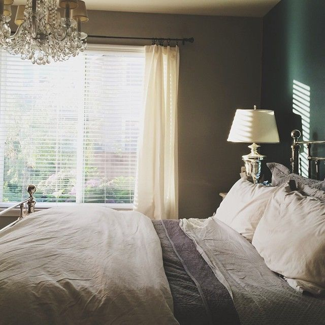 Just before the sun goes down, our bedroom kinda glows. #itspretty