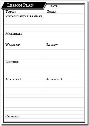 Printable Lesson Plan Template – English Genie | Ideas para MI Clase ...