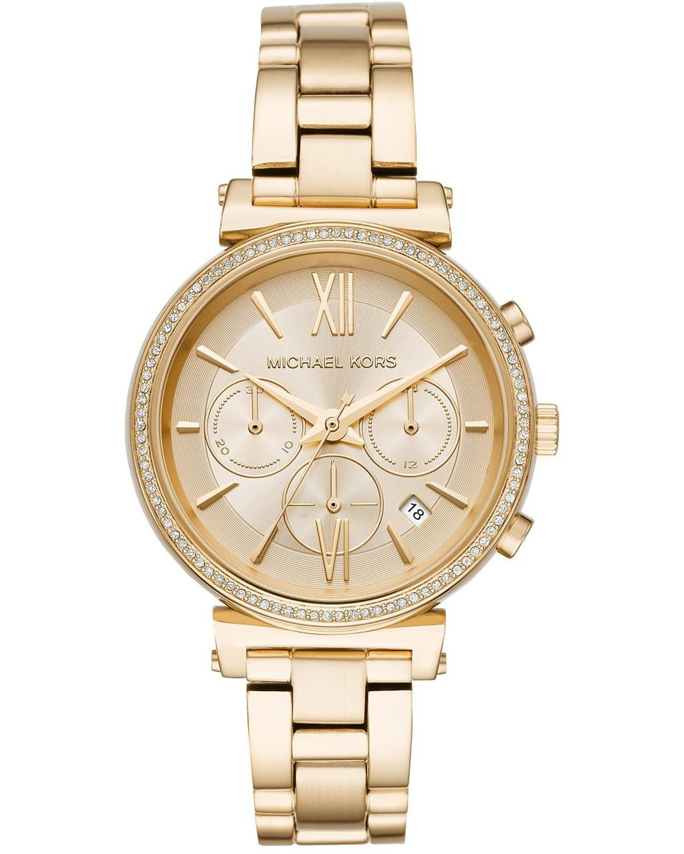 Michael Kors Sofie Crystals Chronograph Gold Stainless Steel Bracelet Mk6559 Damenuhren Armbanduhr Michael Kors Damenuhr