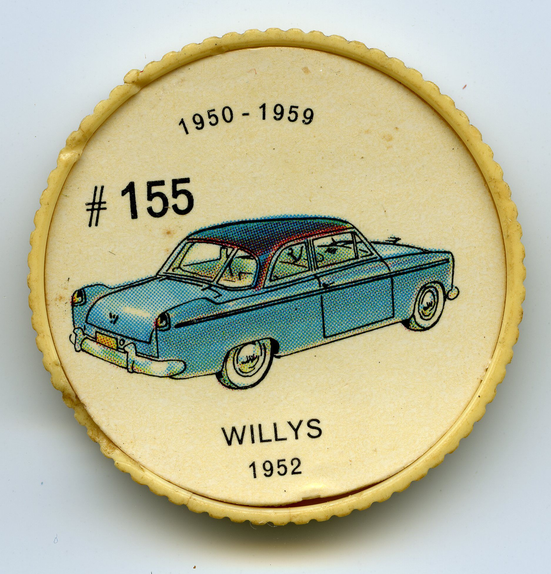 Jello-O Coin 155 - Willys (1952) - The Aero-Ace was the first Willys ...