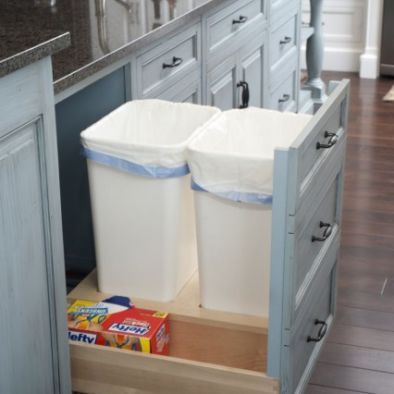 How To Install A Pull Out Garbage Home Diy Home Remodeling Diy Home Improvement