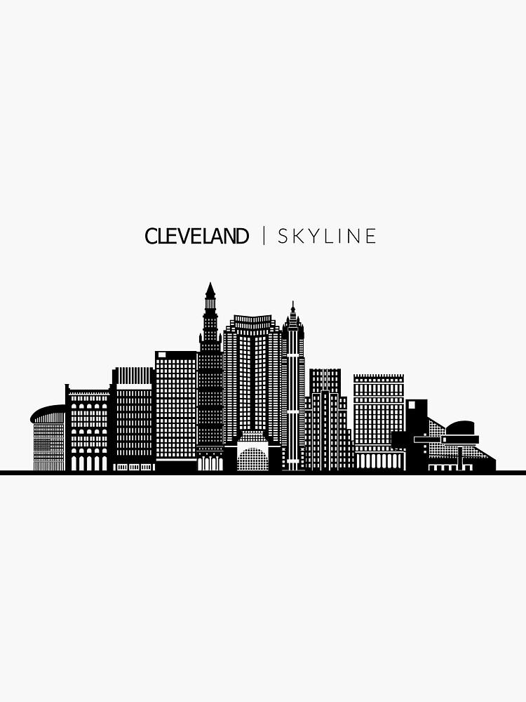 Cleveland Skyline Tattoo : cleveland, skyline, tattoo, Cleveland, Skyline, Travel', Sticker, DuxDesign, City,, Skyline,