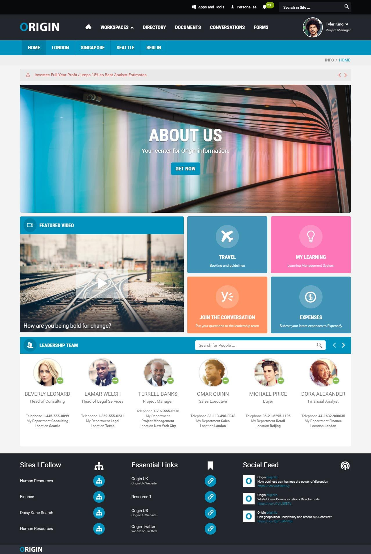 Simple And Engaging Intranet Design Examples To Inspire