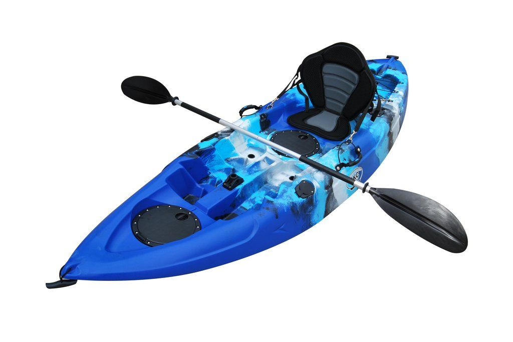 Bkc Fk184 9 Foot Sit On Top Solo Angler Fishing Kayak W Upright Seat Paddle Included In 2020 Kayak Seats Kayak Fishing Angler Kayak