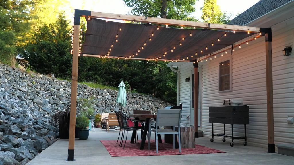 modern outdoor dining table and pergola build 13 steps with rh pinterest com