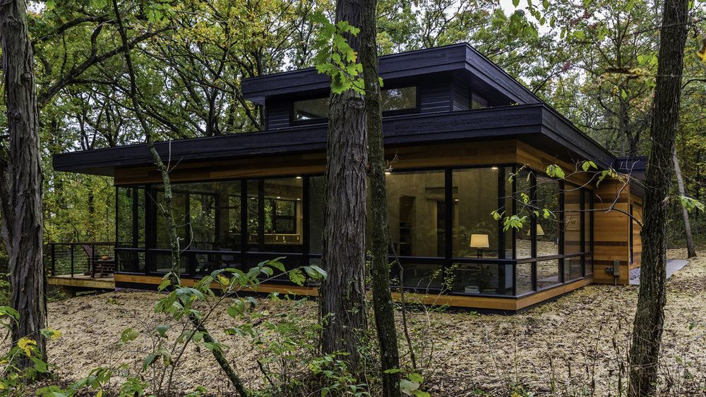 Glass House In The Woods Southcentral Wisconsin House In The