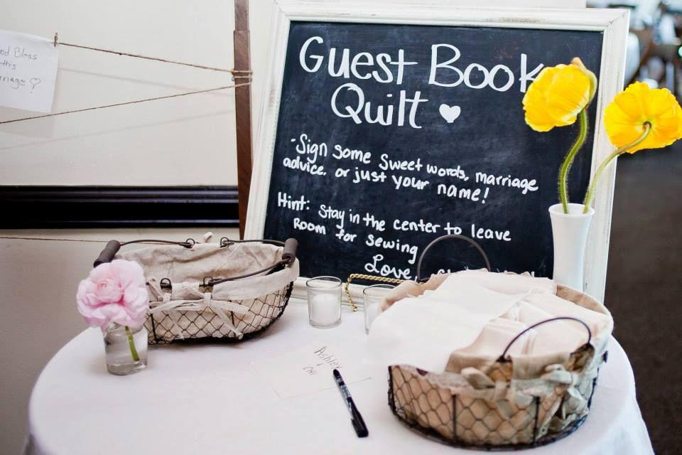 Guest book quilt mirabelphotography Guest book quilt