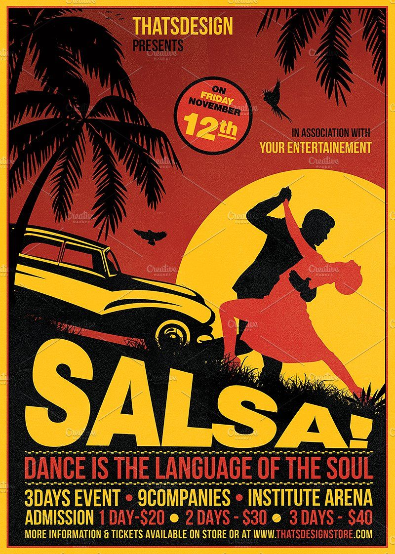 Salsa Music Posters