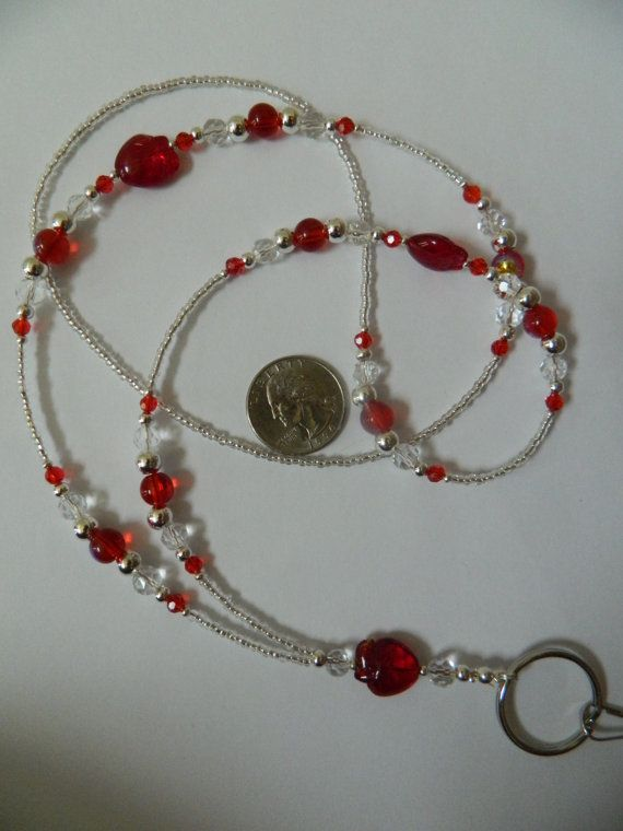 Red and Clear Apple Lanyard Badge holders, Id badge