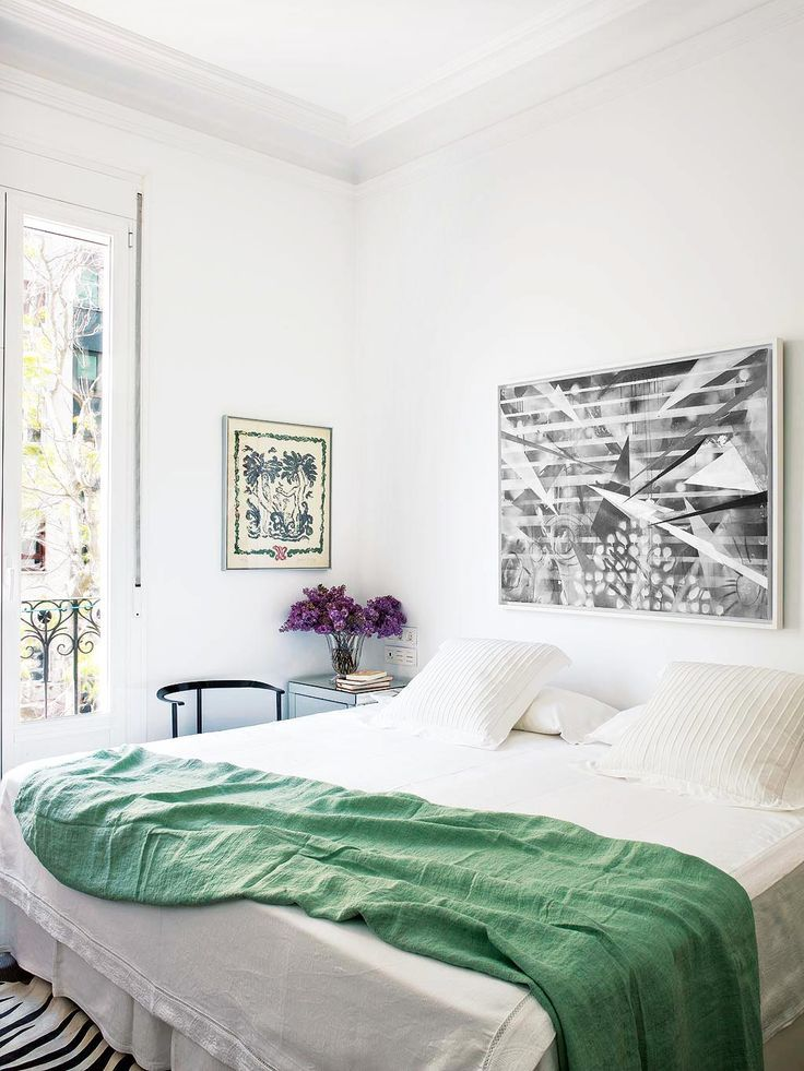 tour an eclectic apartment in madrid bedrooms airy bedroom rh pinterest ca