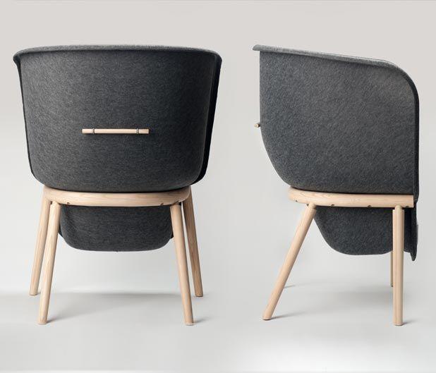 Benjamin Hubert Furniture Design Pod Chair Upholstered