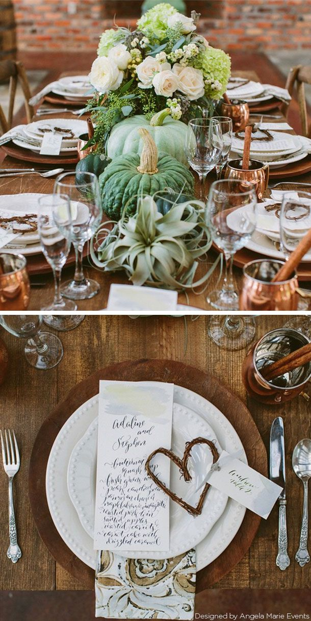 rustic fall tablescape featuring gorgeous green copper and rh pinterest com