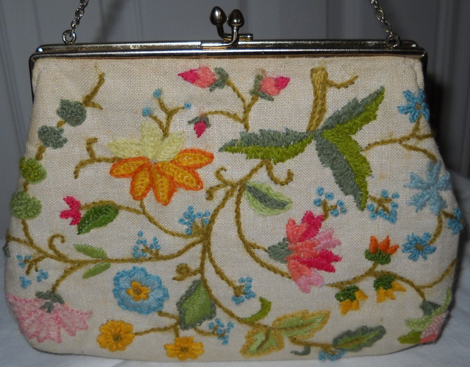 Vintage Purse - Flowers by Luv2Junk on Etsy