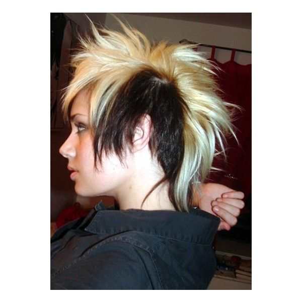 Skunk Hair Image By Mercedeezbenzu On Photobucket Found On Polyvore Punk Hair Mohawk Hairstyles Hair Styles