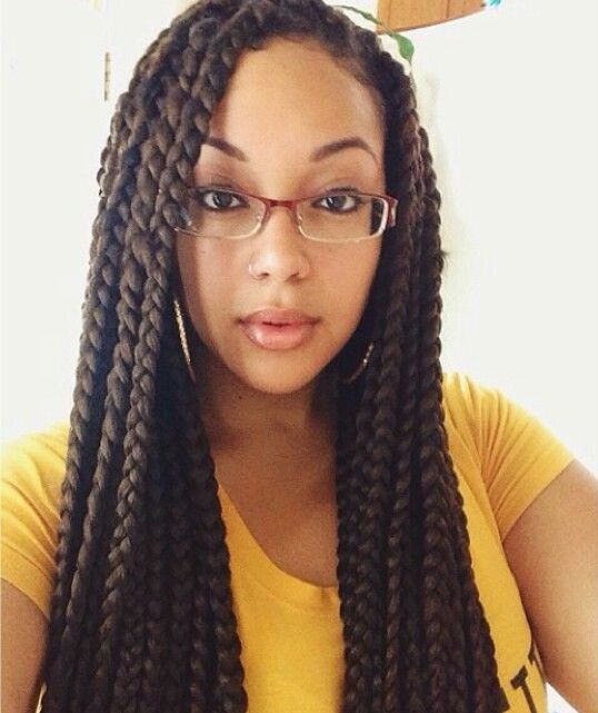 Jumbo Box Braids on Pinterest | Jumbo Braids, Poetic Justice Braids ...