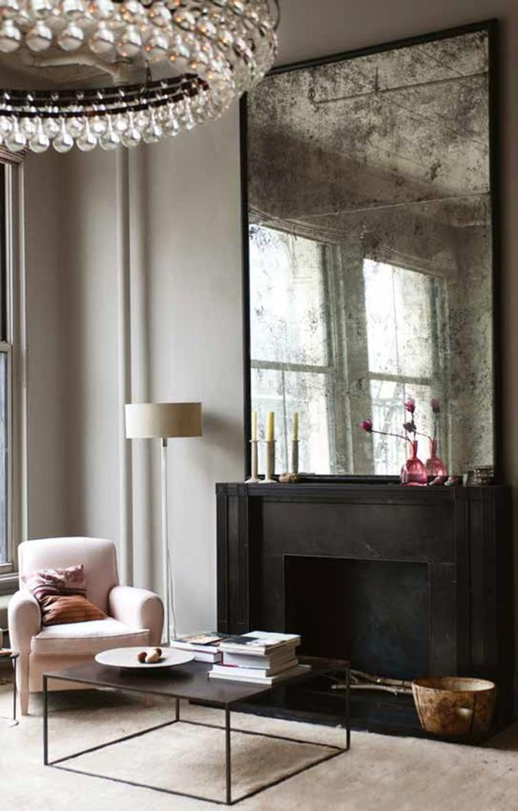 Grand miroir vintage à utiliser dans la décoration – 16 idées