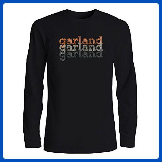 Idakoos - Garland repeat retro - Last Names - Long Sleeve T-Shirt - Retro shirts (*Amazon Partner-Link)