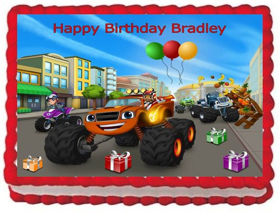 Blaze And The Monster Machines Edible Cake Toppers