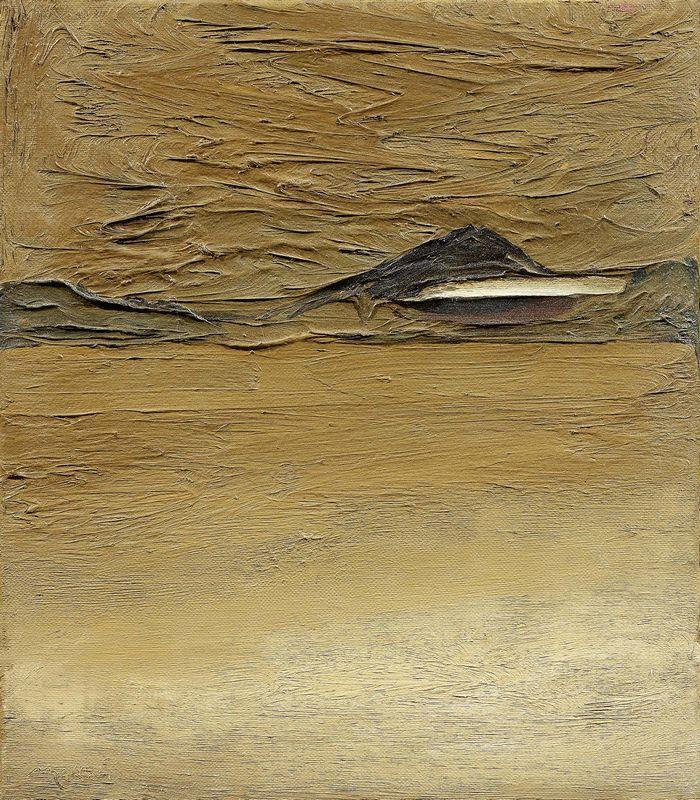 Spiaggia d'estate / Summer Beach, 1974, Carlo Mattioli. Italian (1911 - 1994) - Oil on Canvas -