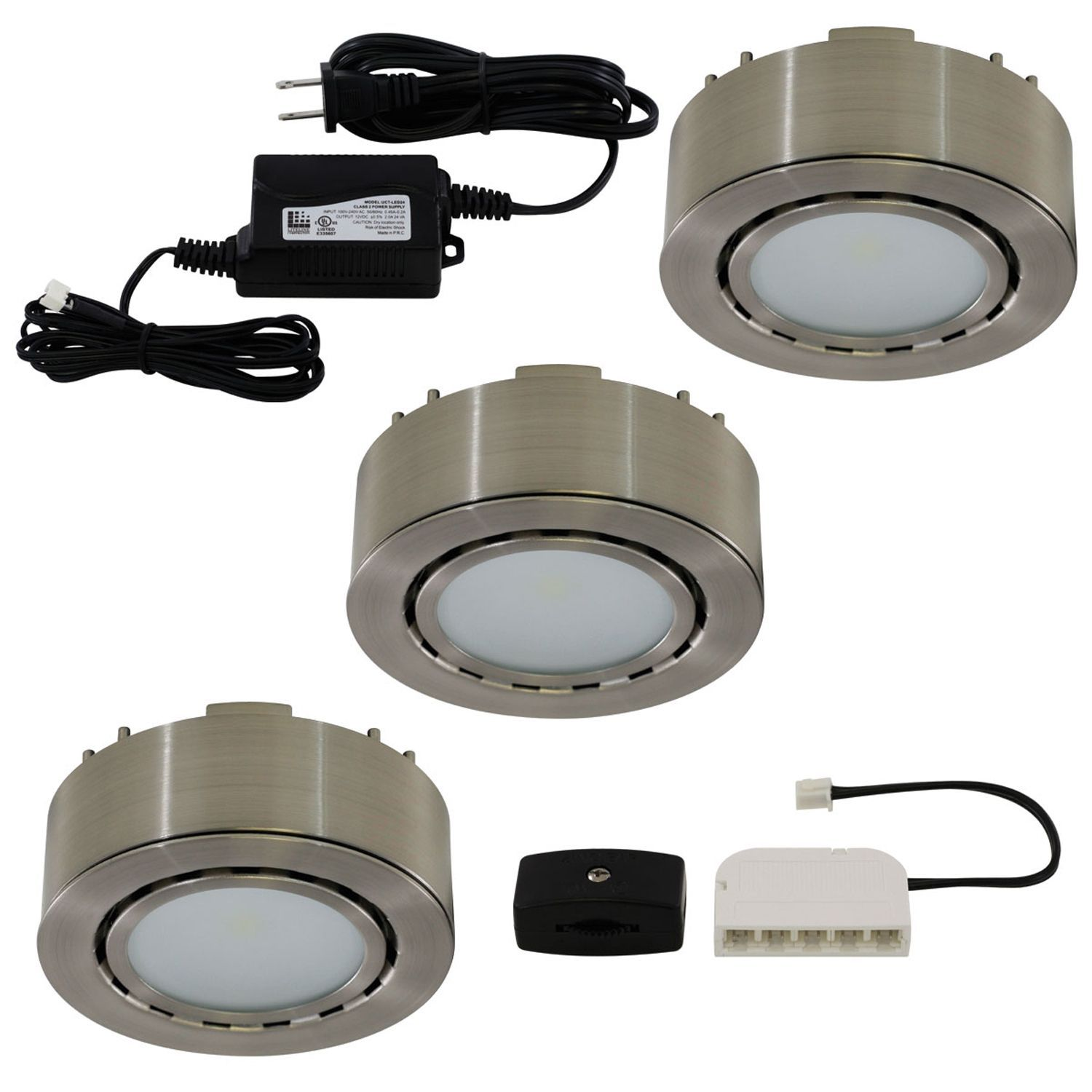 Liteline corporation ucp led3 mn 12 volt nickel led puck light 3 liteline corporation ucp led3 mn 12 volt nickel led puck light 3 count track lightingblack aloadofball Image collections