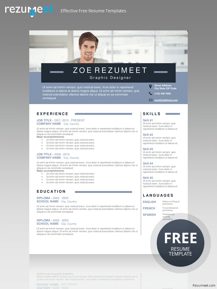 Chongtar Free Banner Photo Resume Template For Word Docx Resume Template Word Microsoft Word Resume Template Resume Template