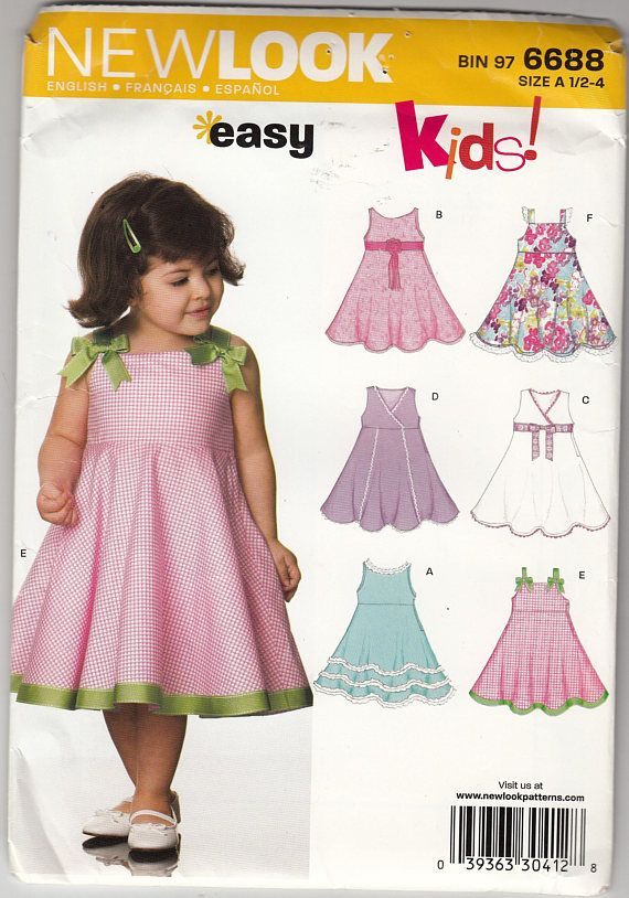 Easy to Sew Toddler Flared Dress Uncut New Look Sewing Pattern ...
