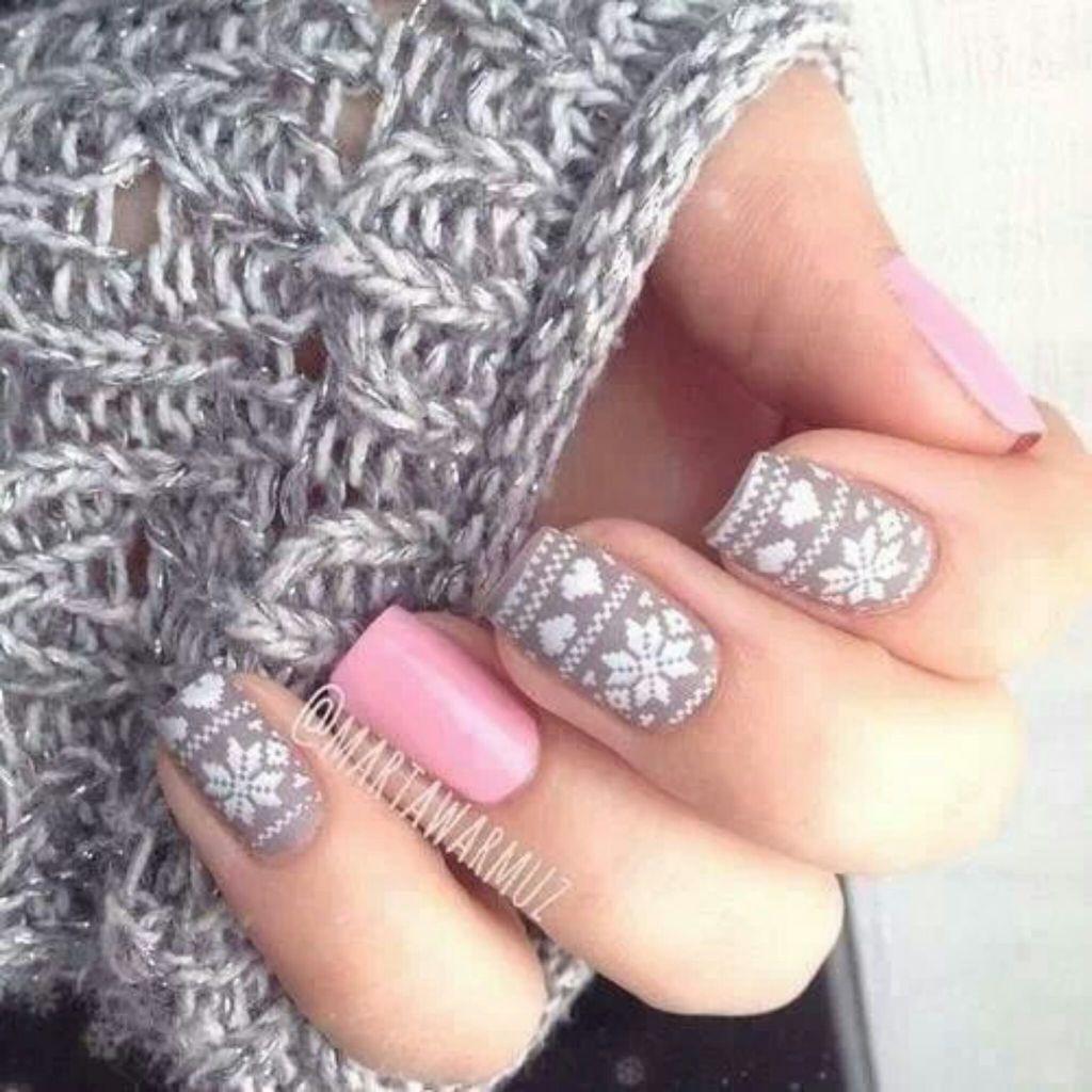 Snowflake nails | Crazy Cool Nails | Pinterest | Gelnägel ...